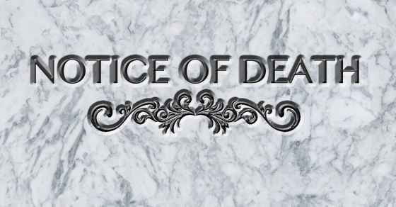 Notice of Death 2017
