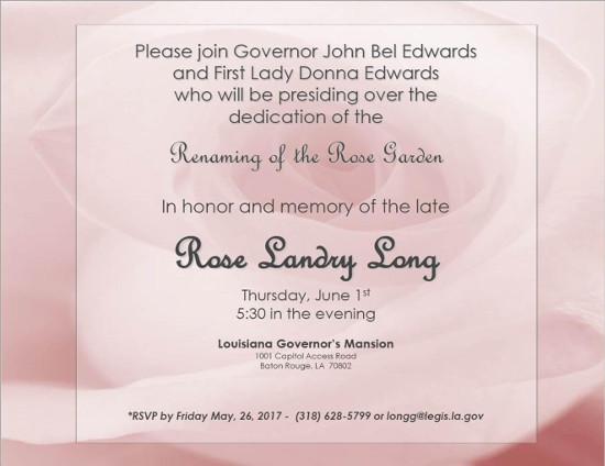Rose Long invitation2017