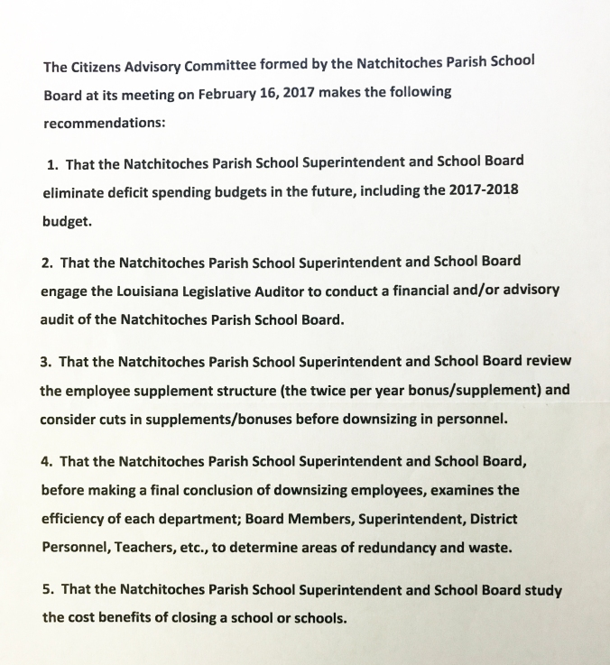 School Board_Recommendations