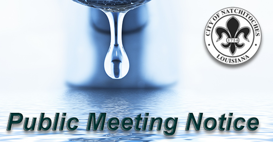 public meeting water sewer rates